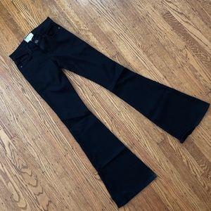 Current / Elliot Jet Black Bell Bottom Flare Jeans